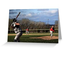 """The Pitch with """"Watercolor"""" Effect Greeting Card"""
