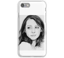 amy in pencils.  iPhone Case/Skin