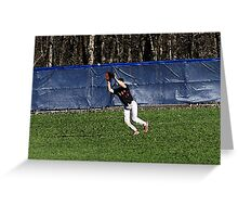 """The Catch with """"Watercolor"""" Effect Greeting Card"""