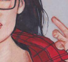 Sarah- Wolf Sticker