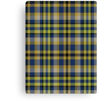 02829 Saratoga County, New York Tartan Canvas Print