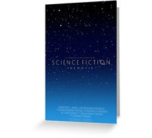 Science Fiction: The Movie!- Blue Greeting Card