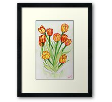 Tulips: A Mother's Day Gift  Framed Print