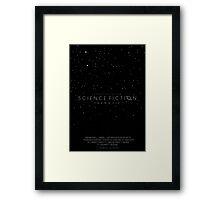Science Fiction: The Movie!- Black Framed Print