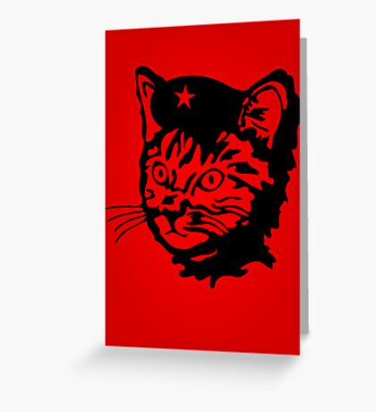 Che Cat Greeting Card