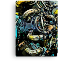 The Battered Engine Canvas Print