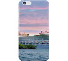 Cruise ship on Roatan iPhone Case/Skin