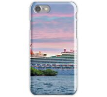Cruise ship on Roatan iPhone Case/Skin