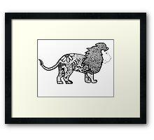 Funky Lion Framed Print