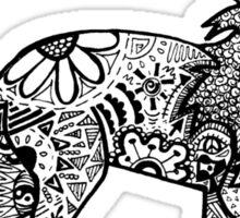 Funky Lion Sticker