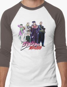 Crazy Noisy Bizarre Town - Jojo's Bizarre Adventure Men's Baseball ¾ T-Shirt