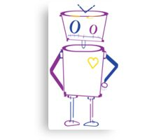 Typography Robot Canvas Print
