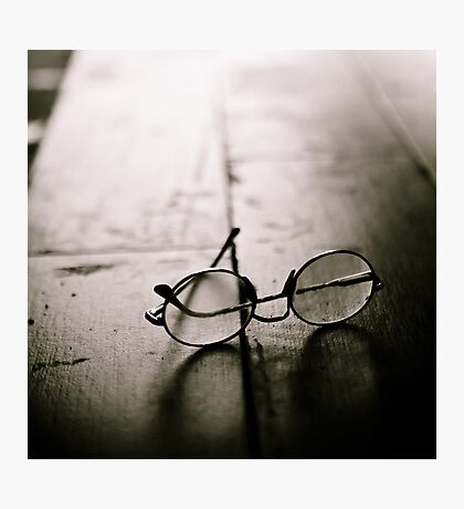 light in glasses Photographic Print