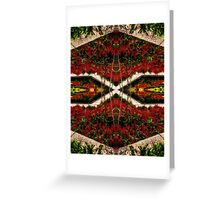 Dark Nature: Flower Bed Greeting Card
