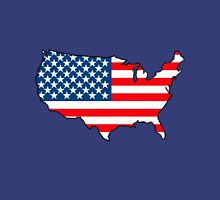 United States of America Map with USA Flag Unisex T-Shirt