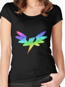 MLP - Cutie Mark Rainbow Special - The Wonderbolts Women's Fitted Scoop T-Shirt