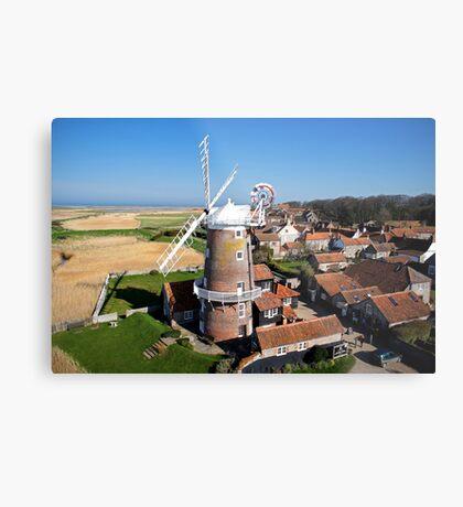 Cley Windmill - Unusual Aeriel shot Metal Print