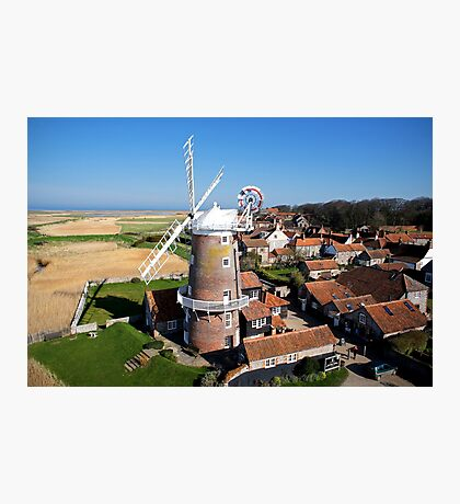 Cley Windmill - Unusual Aeriel shot Photographic Print