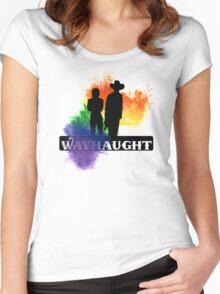Wayhaught-Rainbow Splash Women's Fitted Scoop T-Shirt