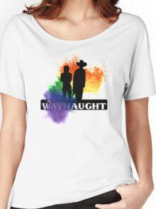 Wayhaught-Rainbow Splash Women's Relaxed Fit T-Shirt