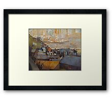 Rooftops of Barmouth Framed Print