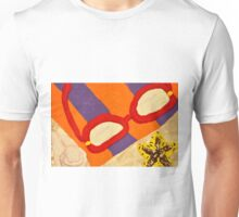 Beach Towel with Glasses, Seashell, and Starfish Unisex T-Shirt
