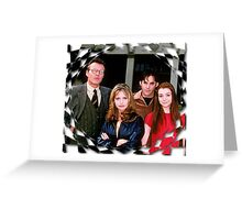 Buffy Cast Giles Xander Willow Greeting Card