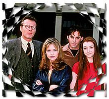 Buffy Cast Giles Xander Willow Photographic Print