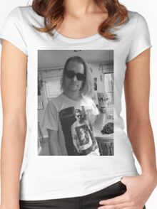 Macaulay Culkin wearing Ryan Gosling wearing Macaulay Culkin shirt Women's Fitted Scoop T-Shirt