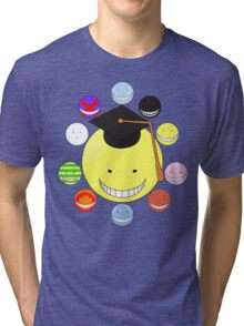 Faces of Korosensei Tri-blend T-Shirt