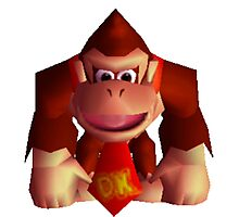 Donkey Kong 64 sprite Photographic Print