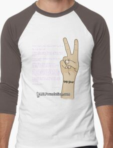 LOREN DONN LESLIE Foundation - Grip Fast Tattoo Design Men's Baseball ¾ T-Shirt