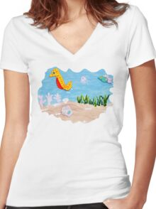 Follow the Leader Women's Fitted V-Neck T-Shirt