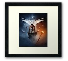 following the  lights Framed Print