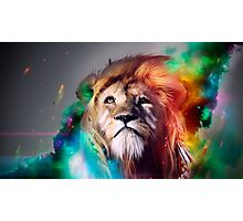 Rainbow Space Lions Photographic Print