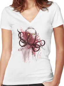 miskatoninked Women's Fitted V-Neck T-Shirt
