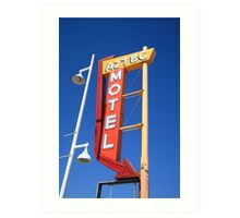 Route 66 - Aztec Motel Art Print