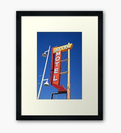 Route 66 - Aztec Motel Framed Print