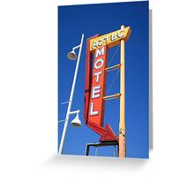 Route 66 - Aztec Motel Greeting Card