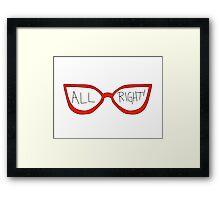 """Linda Belcher """"All Right!"""" Framed Print"""