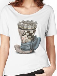 Playing chess hat, Chess themed Women's Relaxed Fit T-Shirt