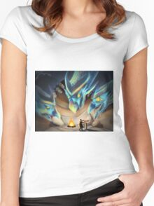 3 Headed Dragon Women's Fitted Scoop T-Shirt