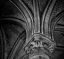 Gothic column and arches by CreativeUrge