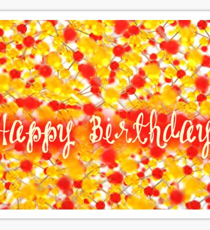 Happy Birthday - Chemist Sticker