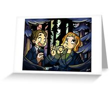 X-Files - Spooky Scary Scully  Greeting Card