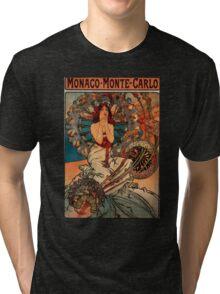 'Monaco' by Alphonse Mucha (Reproduction) Tri-blend T-Shirt