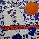 """Australian Cockatoos by Belinda """"BillyLee"""" NYE (Printmaker)"""