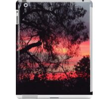 Sunset behind desolate trees 2 iPad Case/Skin