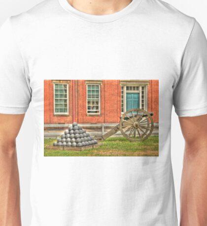 BOOOOOOM    Cannon in the Courtyard Unisex T-Shirt