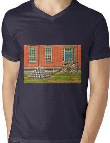 BOOOOOOM    Cannon in the Courtyard Mens V-Neck T-Shirt